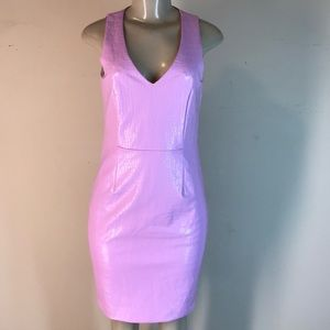 Julie Brown NYC Moby Faux Snakeskin Dress Pink 2